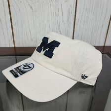 University of Michigan Hat Cap 47 Brand NWT Fitted Large White Blue