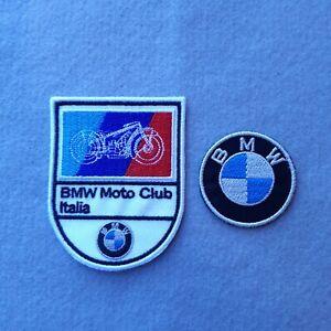 PATCH BMW MOTO CLUB ITALIA CM 6X7 +LOGO DIAM 4 CM RICAMATE TERMOADESIVE-REPLICA