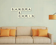 Scrabble Tiles wall art Large letters 7cm, 9cm, 12cm and 21cm