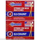 10 BOXES DIAMOND WOOD RED PENNY MATCHES 32x10=320 STRIKE ON BOX RED TIP MATCHES