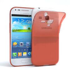 Ultra Slim Cover für Galaxy S3 Mini Case Silikon Hülle Transparent Orange
