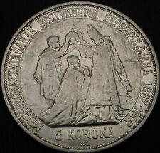 HUNGARY 5 Korona 1907 - Silver - Coronation - VF - 3931 ¤