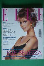 ELLE ITALIA DICEMBRE 1992 CLAUDIA SCHIFFER JOHN TURTURRO MARGUERITE McBEY FONDA