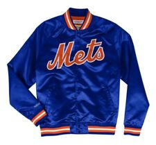 Authentic New York Mets Mitchell & Ness MLB Tough Seasons Satin Light Jacket
