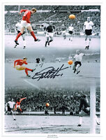 PROOF GEOFF HURST HAND SIGNED 1966 ENGLAND WORLD CUP PHOTO AUTOGRAPH WEST HAM