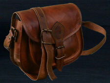 New vintage leather messenger sling cross body purse brown satchel handmade bag
