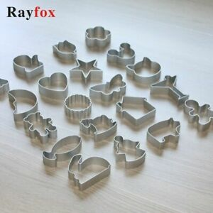 28 Style Cookie Cutters Moulds Aluminum