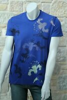 MOSCHINO Authentic Men's 100% Cotton Blue T-Shirt Free Shipping New with Tags