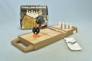 Vintage TOMY STROLLING BOWLING GAME with BALL INSTRUCTIONS ORIGINAL BOX #01746