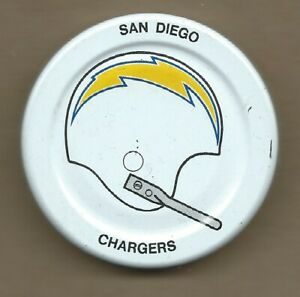 San Diego Chargers Gatorade Bottle Cap Lid Early 1970s NFL Football Helmet