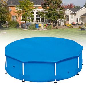 KF_ BG_ SWIMMING POOL Solar Cover 8FT 10FT 12FT Heats Water Heat Clean DEBRIS