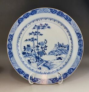 A large/fine Chinese 18C blue&white charger-Yongzheng