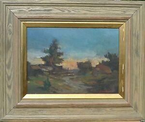 Arne Aspelin 1911-1990 Landschaftszene IN Evening Sun/Oil Painting