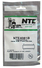 NTE4081B: CMOS IC: Quad 2−Input AND Gate: Very Popular: 4/Lot: Great Price