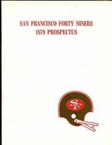 1979 NFL Football San Francisco 49'ers Prospectus EXMT