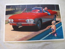 1965  CHEVROLET CORVAIR CONVERTIBLE   COLOR     11 X 17  PHOTO  PICTURE