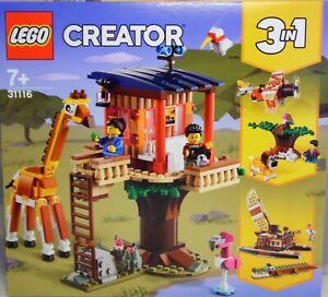 LEGO Creator 31116 Safari Baumhaus 3 in 1 Doppeldecker Löwe, Katamaran Kroko NEU