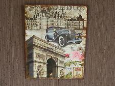 Blechschild  - Wandschild - London - Nostalgie - Antik Style  20 x 25  cm