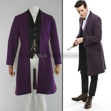 Dr. Doctor Who is Eleventh 11th Purple Coat Version 2 Custom Made