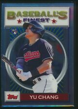 2020 Topps Baseball's Finest Flashbacks #5 Yu Chang RC Rookie Cleveland Indians