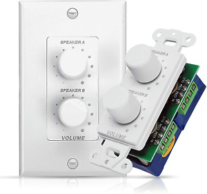 In Wall Speaker Volume Control Home Audio Smart 2-Channel A/B Dual Channel