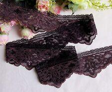 5.8 cm width Pretty Aubergine Stretch Lace Trim