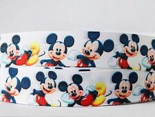 1m X 22mm Grosgrain Ribbon Craft DIY Cake Decorations Hair Bows - Mr. Mickey