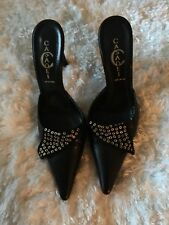 Casadei  Black Pointy Toe Mules Size 6.5