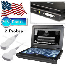 US ship,Digital Ultrasound Scanner Laptop Machine With 2 Probes,Convex + Cardiac