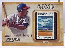 Hank Aaron 2016 Topps Update 500 Home Run Club 1968 U.S. Postage Stamp #d 49/375