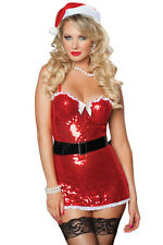 Naughty Red Twinkling Sexy Xmas Christmas Miss Santa Costume Set