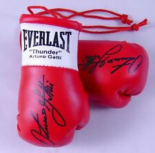Autographed Mini Boxing Gloves Arturo (Thunder) Gatti