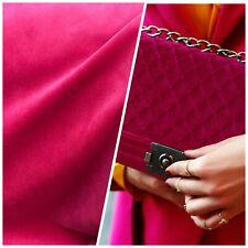 NEW Designer Velvet Upholstery & Drapery Fabric -Soft- Fuchsia Pink - BTY