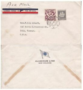 Suriname #149,#C5 on Ship Co Cover to US; ship topical *d