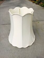 """Vintage Extra Large Scalloped Lamp Shade 18"""" Tall! MUST SEE!!"""