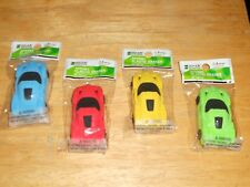 LOT of 4: Novelty SPORTS RACE CAR ERASERS Party Favor School Collect