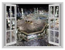 Huge 3D Islamic Hajj Makkah Window Poster Wall Sticker Vinyl Decal Decor Mural