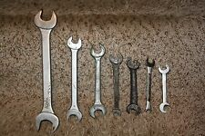 Lot of 7 Vintage Open End Wrench Mechanic Wrench USA Tools