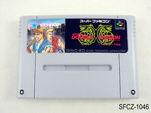 Return of Double Dragon Super Famicom Japanese Import SFC SNES Japan J US Seller