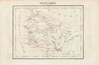 1802 Tardieu Antique Map of The Country of Senegal, West Africa