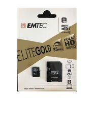 8GB micro SDHC Speicherkarte Original CLASS 10 + SD-Adapter max. 85 MB/s LES WOW