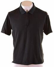 ADIDAS Mens Polo Shirt Medium Black Cotton  NG19