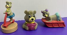 Lot of 3 Hanna-Barbera Cindy Bear Arby's Kids Meal Toys 1990 1994 Yogi