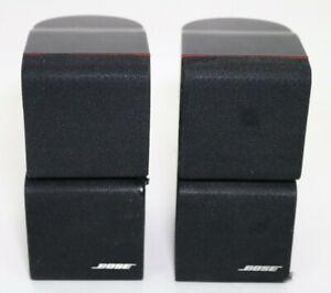Pair (2) BOSE Redline Black Double Dual Cube Satellite Speakers Acoustimass