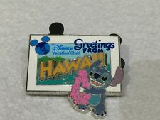 DISNEY STITCH PIN GREETINGS FROM HAWAII DVC WELCOME HOME PIN 2011 HTF