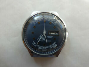 RUSSISCHE mechanische Herrenuhr Datum Jahreskalender - Uhr läuft