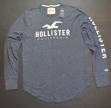 NEW Men's %HOLLISTER BY ABERCROMBIE% Gray Sweatshirt Pullover T.Shirt Sz.M