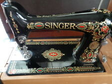 SINGER SEWING MACHINE RED EYE TREADLE HEAD 66 WOW
