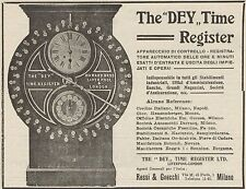 Z1374 The DEY Time Register - Pubblicità d'epoca - 1909 Old advertising