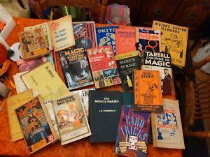 Huge Vintage Magic Book and Catalog lot #1 -Blackstone Tarbell Mak Magic LB